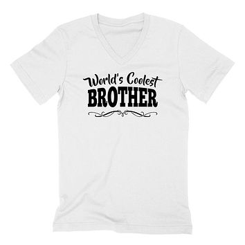 World's coolest brother birthday #1 brother best brother ever gift ideas for him the best brother   V Neck T Shirt