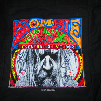 Rob Zombie Venomous Rat Regeneration Vendor Full Band Hand Signed Hand Painted Tote Bag