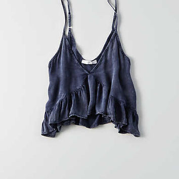 Don't Ask Why Flounce Cami, Navy