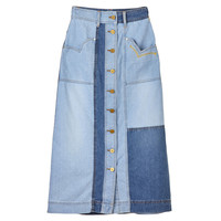 [럭키슈에뜨] Denim Slimfit Long Skirt