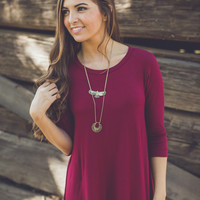 Best of Show Dress in Burgundy