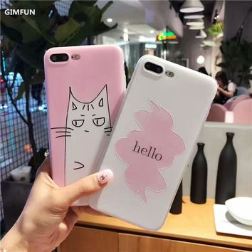 Gorgeous Pencil Art Drawn Cat Silicone Case for iPhone 6s, 6, 6 plus, 8, 7, 7plus, and iPhone 8