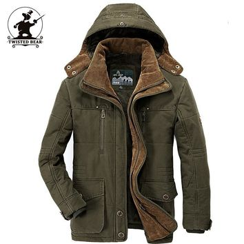 High Quality Brand Men's Casual Cotton Jacket New Fashion Thickening Winter Jacket Men Warm Coat Parkas Pull Home C16B3029
