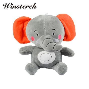 20cm Plush Stuffed Elephant Toy Baby Calming Sleeping Cuddle Stuffed Animals Dolls Kids Best Gifts WW388