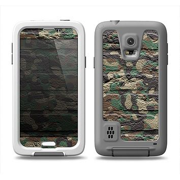 The Vibrant Brick Camouflage Wall Samsung Galaxy S5 LifeProof Fre Case Skin Set