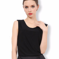 Sleeveless Knit Shirt