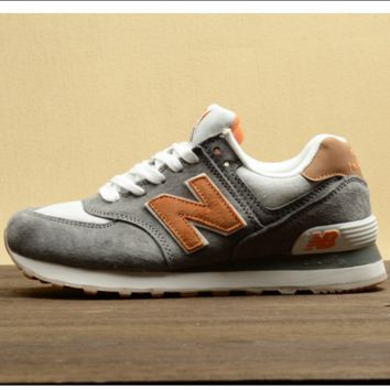 New balance Leisure shoes running shoes men's shoes for women's shoes couples N word Grey