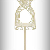 Full-size Metal Wire Dress Form in Ivory Finish