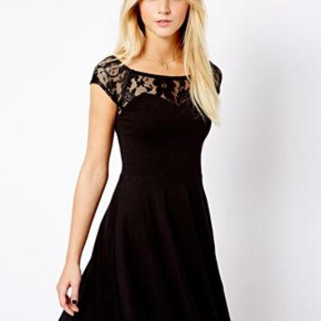 New Look Skater With Lace Yoke