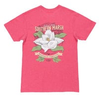 Magnolia Festival Series Tee in Washed Strawberry by Southern Marsh - FINAL SALE