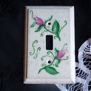 Hand Painted Victorian Roses Light Switch From