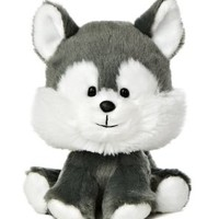 "Aurora World Wobbly Bobblee Husky Plush, 6"" Tall"
