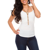 Lynsie Top - White