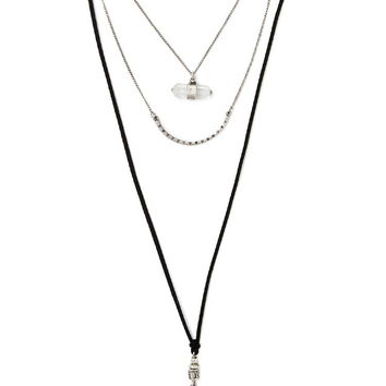 Mixed Pendant Layered Necklace