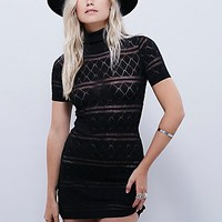Knitz by For Love & Lemons Womens Stevie Turtleneck Dress
