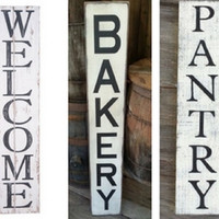 Vertical Signs - Farmhouse Style