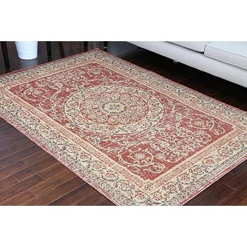 8712 Red Rustic Oriental Area Rugs