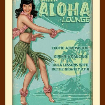 Aloha Sign, Hawaiian Decor, Green Wall Art, Green Wall Decor, Restaurant Art, Restaurant Decor, Home Decor, Metal Wall Art, Fun Wall Art