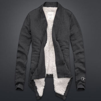 Sherpa Lined Blanket Cardigan