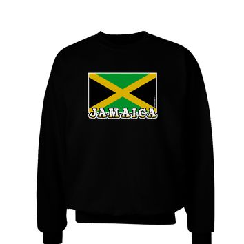 Jamaica Flag Dark Adult Dark Sweatshirt
