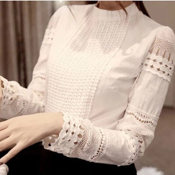 Casual Cotton Slim Sheer Whiter Shirt