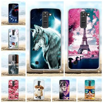Cover For LG K7 Case X210 X210DS K330 Soft Silicone TPU Funda Coque For LG Tribute 5 LS675 Phone Cases 3D Cute Animal Bag Shell