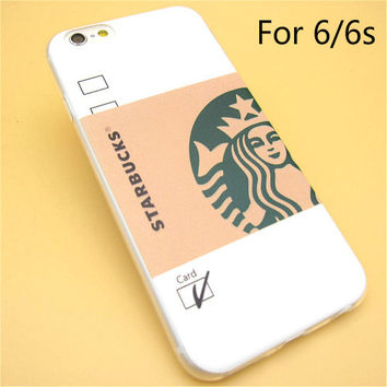 Fashion Starbuck Coffee TPU Slim Back Skin Ultra Thin Soft Phone Case Shell For iPhone 6/6s