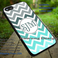 Personalized Monogram Chevron Mint Grey Gradation iPhone 6s 6 6s+ 5c 5s Cases Samsung Galaxy s5 s6 Edge+ NOTE 5 4 3 #art dt