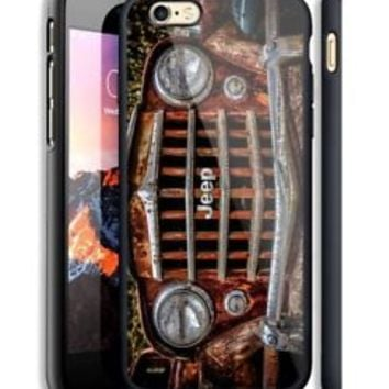 Vintage Jeep Wrangler Hard Case For iPhone 6 6+ 6s 6s+ 7 7+ 8 8+ X Samsung Cover