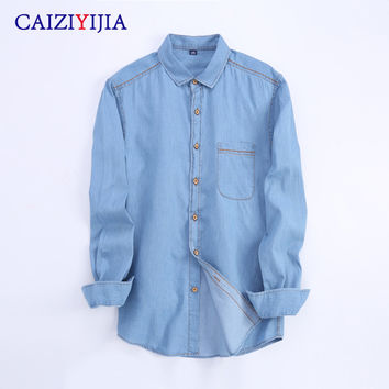 Best fitted denim shirt products on wanelo for Lightweight breathable long sleeve shirts