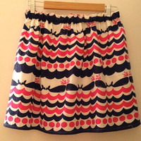 Lilly Pulitzer Whales Tails Skirt