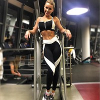 2017 Women Sports Yoga Pants Running Athletic Leggings Quick Dry Yoga Gym Workout Clothes Roupa Ciclismo#EW