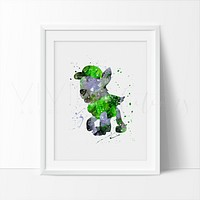 Rocky, Paw Patrol Watercolor Art Print