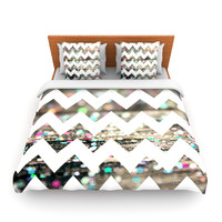 """Beth Engel """"After Party Chevron"""" Twin Fleece Duvet Cover - Outlet Item"""