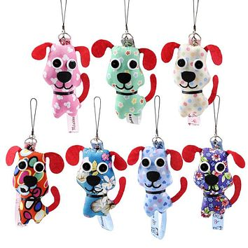 RYRY 10cm Mini Stuffed Dog Pendant Cute Dog Plush Doll Used as Bag decoration 2018 Chinese New Year Gift For Childrens Adult