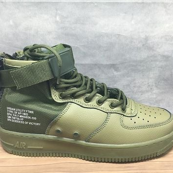 LMFON Nike Air Force 1 Mid 30 Year Green For Women Men Running Sport Casual Shoes Sneakers