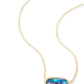 Kendra Scott Elisa Abalone Shell Gold Necklace