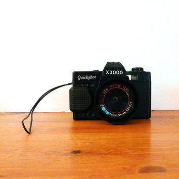 vintage toy camera, quickshot x3000  //  cameras, kitsch, photography, 35mm, retro, plastic, 70s, collectibles