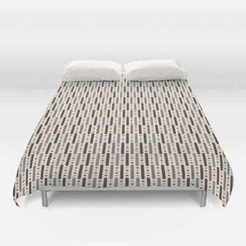 STICKS: NEUTRAL Duvet Cover by Eileen Paulino