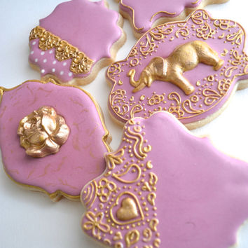 Wedding Decorated Sugar Cookies Golden Palace