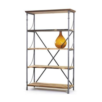 Reclaimed Wood & Iron Sagaponik Bookshelf