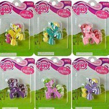 Hasbro My Little Pony 3D Eraser in blister pack (1 Random Piece)-New in Package