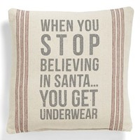 Primitives by Kathy 'Stop Believing' Pillow | Nordstrom
