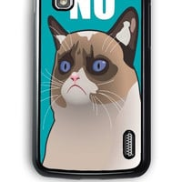 Google Nexus 4 Case - Hard (PC) Cover with Cactus the Cranky Cat Plastic Case Design
