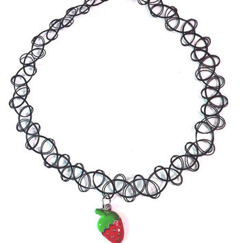 Tattoo Choker Strawberry