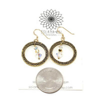 Gold Crystal Earrings For Her | Gold Christmas Earrings For Women | Gold Party Earrings Gift For Her | Solana Kai Designs | Portland OR