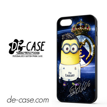Minion Cronaldo Real Madrid And Signature DEAL-7303 Apple Phonecase Cover For Iphone 5 / Iphone 5S