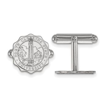 NCAA Sterling Silver North Carolina State University Crest Cuff Links