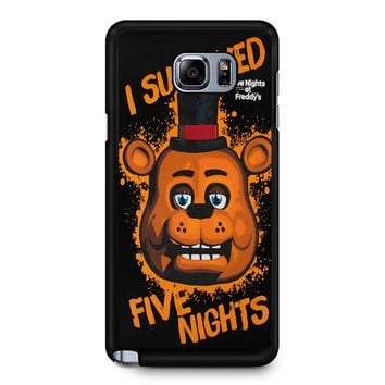 Five Nights At Freddy S I Survived Samsung Galaxy Note 5 Case