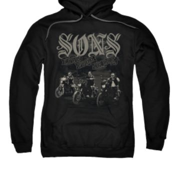 SONS OF ANARCHY SONS LIVE FREE Adult Fleece Pull Over Hoodie